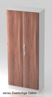 Büroschrank Hammerbacher Solid SS 5 OH Türen 80 x 42 x 201 cm weiss Zwetschge Dekor