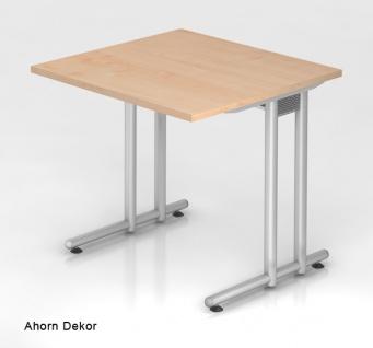 Schreibtisch Hammerbacher N-Serie 80 x 80 cm Ahorn Dekor
