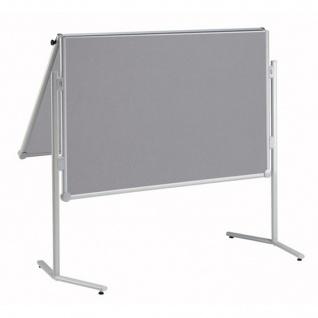 Präsentationstafel Maul Pro Pinnwand klappbar Textil grau
