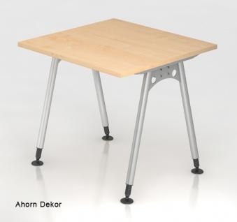 Schreibtisch Hammerbacher A-Serie 80 x 80 cm Ahorn Dekor