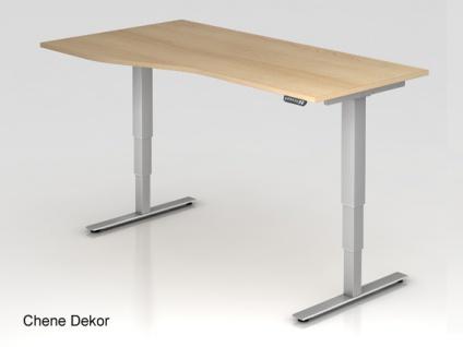 Schreibtisch Hammerbacher XD-Serie Elektro 180 x 80-100 cm Eiche Dekor