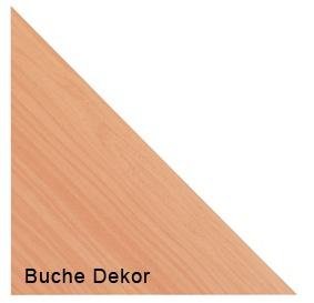 Verkettungsplatte Hammerbacher 80 cm 90 Grad gerade H-Serie Buche Dekor