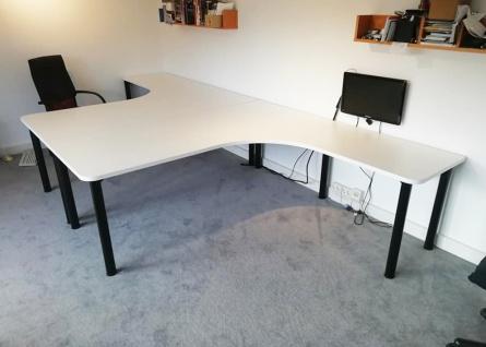 Doppel Schreibtisch Pendo Rondo L-Form A Auswahl Farbe Optionen Größe