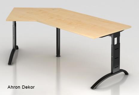 J-Schreibtisch Hammerbacher F-Serie 210 x 113 cm Ahorn Dekor
