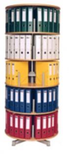 Drehsäule für Ordner RFF 81 cm 5 Etagen gesamt drehbar Buche