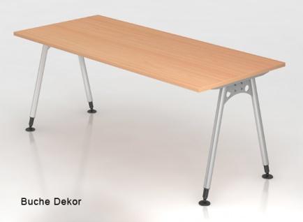 Schreibtisch Hammerbacher A-Serie 200 x 100 cm Buche Dekor