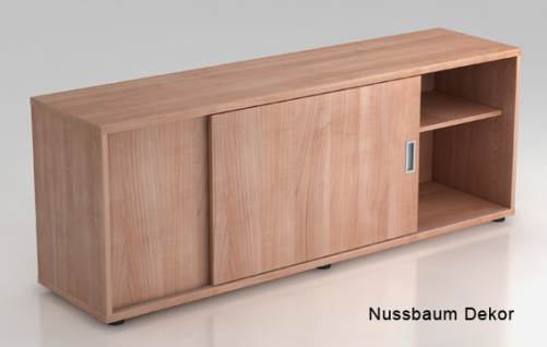 Schiebetürenschrank Hammerbacher Basic 1 1-5OH 160 x 60 x 40 cm Nussbaum Dekor