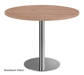 Besprechungstisch Hammerbacher Meeting Rund 100 cm Nussbaum