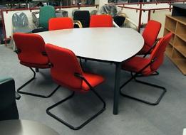 Konferenztisch Pendo Rondo Wankelform 190 cm Auswahl Farbe Optionen
