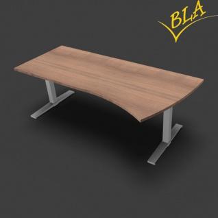 Schreibtisch elektrisch höhenverstellbar Pendo Polar 220 x 80 zu 100 cm Auswahl Farbe Optionen
