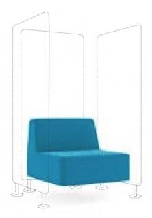 Loungesessel Element Profi M Wall In mit 3 Sichtschutzwand Farbauswahl