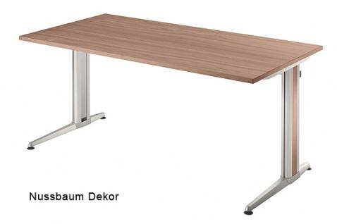 Schreibtisch Hammerbacher XS-Serie 160 x 80 cm Nussbaum Dekor