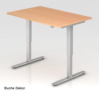 Schreibtisch Hammerbacher XM-Serie Elektro 120 x 80 cm Buche Dekor