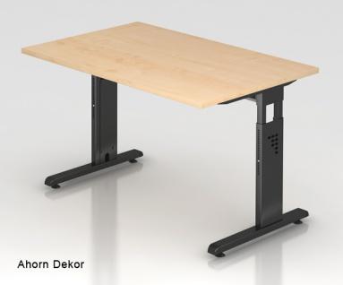 Schreibtisch Hammerbacher O-Serie 120 x 80 cm Ahorn Dekor