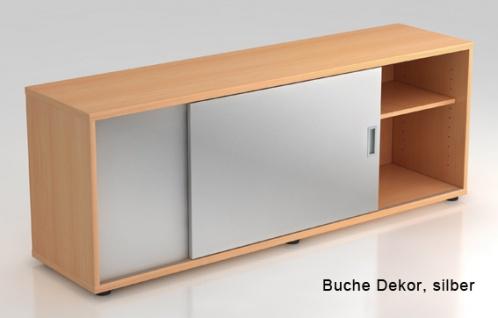 Schiebetürenschrank Hammerbacher Basic 1 1-5OH 160 x 60 x 40 cm Buche Dekor silber