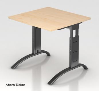 Schreibtisch Hammerbacher F-Serie 80 x 80 cm Ahorn Dekor