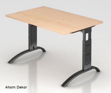 Schreibtisch Hammerbacher F-Serie 120 x 80 cm Ahorn Dekor