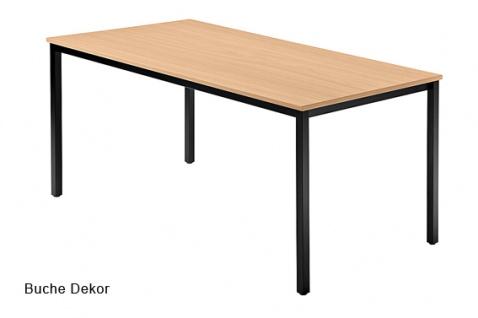 Konferenztisch Hammerbacher Villingen Classic 1 Quadrat 160 x 80 cm Farbauswahl