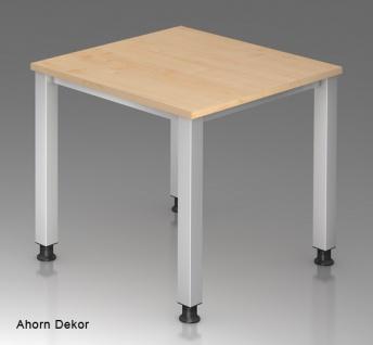 Schreibtisch Hammerbacher Q-Serie 80 x 80 cm Ahorn Dekor