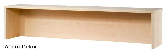 Thekenaufsatz für Schreibtische Hammerbacher 120 cm breit Ahorn Dekor