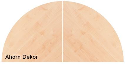 Anbauplatten Hammerbacher 160 cm doppelrund Q-Serie Ahorn Dekor