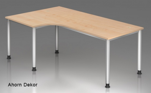 L-Schreibtisch Hammerbacher H-Serie 200 x 120-80 cm Ahorn Dekor
