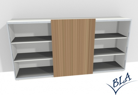 Schiebetüren-Regal-Sideboard Expendo Line Exklusiv 240 cm 3 OH Auswahl