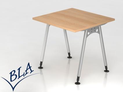 Schreibtisch Hammerbacher A-Serie 80 x 80 cm Eiche Dekor