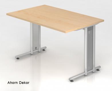 Schreibtisch Hammerbacher N-Serie 120 x 80 cm Ahorn Dekor