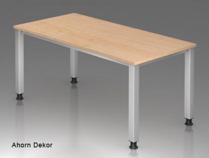 Schreibtisch Hammerbacher Q-Serie 120 x 80 cm Ahorn Dekor