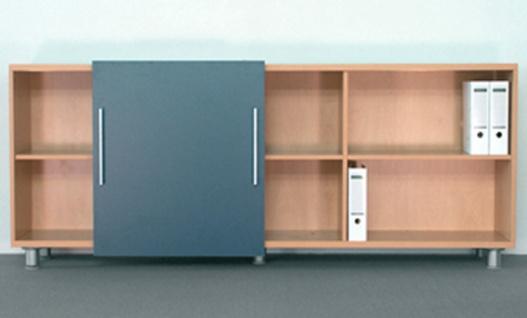Schiebetüren-Büro Sideboard Expendo Line 220 cm 2 OH Auswahl Farbe Optionen