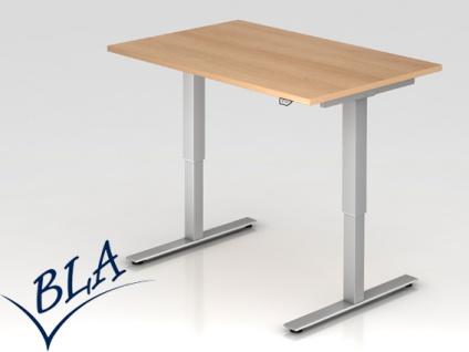 Schreibtisch elektrisch höhenverstellbar Hammerbacher Xanten Eco 120 x 80 cm Auswahl Farbe Optionen