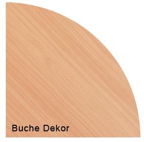 Verkettungsplatte Hammerbacher 80 cm 90 Grad rund Ahorn Dekor