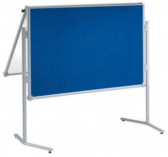 Präsentationstafel Maul Pro Pinnwand klappbar Textil blau Whiteboard