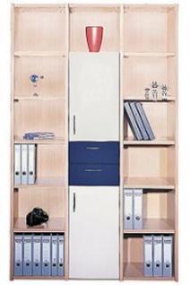 Büro Schrankwand Pendo Multi 131 x 44 x H 221 cm 6 OH 2 Auswahl Farbe Optionen