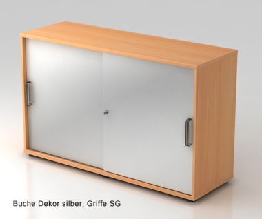 Schiebetürenschrank Hammerbacher Basic 2 OH 120 x 40 x 75 cm Buche Dekor silber