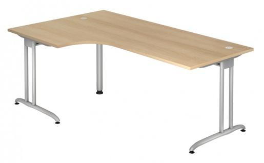 L-Schreibtisch Hammerbacher B-Serie 200 x 120-80 cm Eiche Dekor