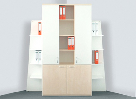 Büro Schrankkombination Pendo Vari Edo 200 cm 6 OH Auswahl Farbe Optionen