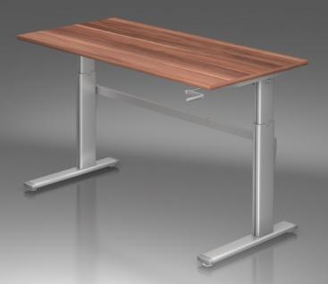 Schreibtisch Hammerbacher XK-Serie 160 x 80 cm Zwetschge Dekor