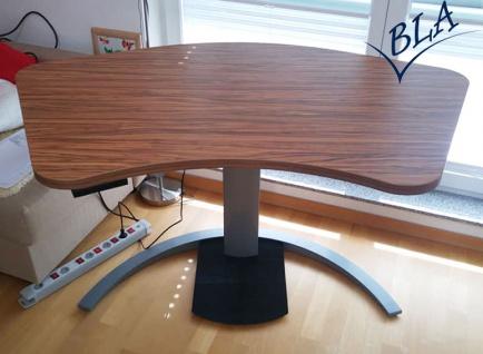Schreibtisch elektrisch höhenverstellbar Conset Single 4 silber Auswahl Farbe Optionen