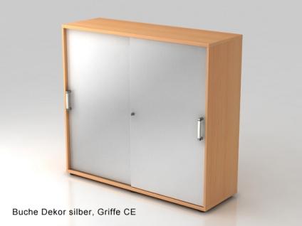 Schiebetürenschrank Hammerbacher Basic 3 OH 120 x 40 x 110 cm Buche Dekor silber
