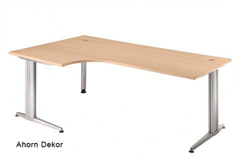 L-Schreibtisch Hammerbacher XS-Serie 200 x 120-80 cm Ahorn Dekor