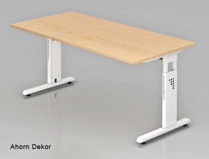 Schreibtisch Hammerbacher O-Serie 160 x 80 cm Ahorn Dekor