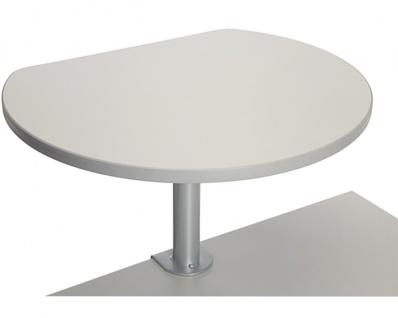 Stehtisch mit Tischklemme Maul grau