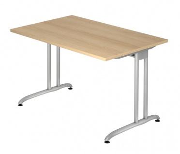 Schreibtisch Hammerbacher B-Serie 120 x 80 cm Eiche Dekor