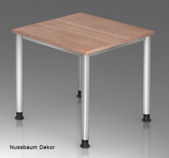 Schreibtisch Hammerbacher H-Serie 80 x 80 cm Nussbaum Dekor