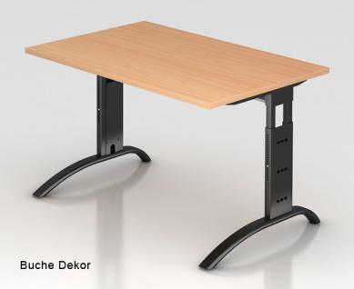Schreibtisch Hammerbacher F-Serie 120 x 80 cm Buche Dekor