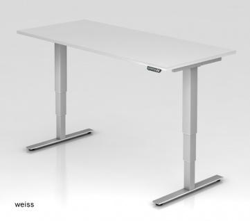 Schreibtisch Hammerbacher XD-Serie Elektro 200 x 100 cm weiss