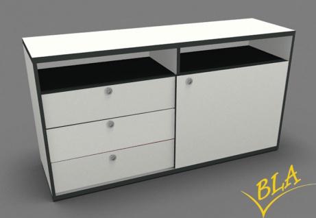 Schiebetüren-Schubladen-Büro Sideboard Pendo 120 x 80 x 44 cm Auswahl Farbe Optionen