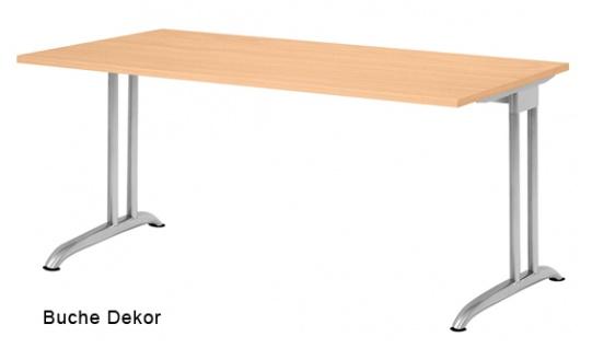 Schreibtisch Hammerbacher B-Serie 160 x 80 cm Buche Dekor